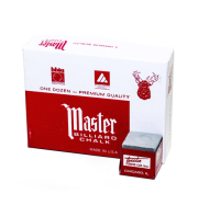 Master Billiard Chalk, 12 Per Box Gray