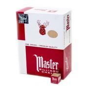 Master Billiard Chalk, 144 Per Box Gold
